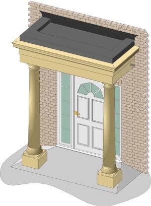 GRC portico