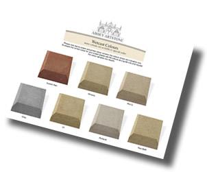 wet cast stone colours